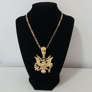 US Eagle insignia with 18k gold filled chain. New